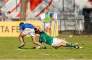 12 June 2019; Jacopo Trulla of Italy is tackled by Rob Russell of Ireland  during the World Rugby U20 Championship Pool B match between Ireland and Italy at Club De Rugby Ateneo Inmaculada, Santa Fe in Argentina. Photo by Florencia Tan Jun/Sportsfile