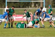 12 June 2019; Colm Reilly of Ireland runs with the ball during the World Rugby U20 Championship Pool B match between Ireland and Italy at Club De Rugby Ateneo Inmaculada, Santa Fe in Argentina. Photo by Florencia Tan Jun/Sportsfile