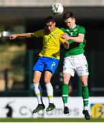 12 June 2019; Darragh Leahy of Republic of Ireland in action against Antony Matheus of Brazil during the 2019 Maurice Revello Toulon Tournament Semi-Final match between  Brazil and Republic of Ireland at Stade De Lattre in Aubagne, France. Photo by Alexandre Dimou/Sportsfile