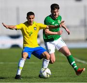 12 June 2019; Aaron Connolly of Republic of Ireland in action against Antony Matheus of Brazil during the 2019 Maurice Revello Toulon Tournament Semi-Final match between  Brazil and Republic of Ireland at Stade De Lattre in Aubagne, France. Photo by Alexandre Dimou/Sportsfile