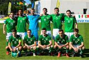 12 June 2019; Republic of Ireland team, back row, from left, Aaron Connolly, Adam Idah, Caoimhin Kelleher, Conor Masterson, Dara O'Shea and Conor Coventry. Front row, from left, Jayson Molumby, Connor Ronan, Darragh Leahy, Lee Connor and Stephen Malon prior to the 2019 Maurice Revello Toulon Tournament Semi-Final match between  Brazil and Republic of Ireland at Stade De Lattre in Aubagne, France. Photo by Alexandre Dimou/Sportsfile