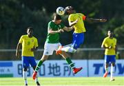 12 June 2019; Conor Coventry of Republic of Ireland in action against Douglas Luiz of Brazil during the 2019 Maurice Revello Toulon Tournament Semi-Final match between Brazil and Republic of Ireland at Stade De Lattre in Aubagne, France. Photo by Alexandre Dimou/Sportsfile