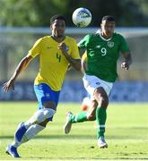 12 June 2019; Murilo Cerqueira of Brazil in action against Adam Idah of Republic of Ireland during the 2019 Maurice Revello Toulon Tournament Semi-Final match between Brazil and Republic of Ireland at Stade De Lattre in Aubagne, France. Photo by Alexandre Dimou/Sportsfile