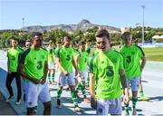 12 June 2019; The Ireland team prior to the 2019 Maurice Revello Toulon Tournament Semi-Final match between Brazil and Republic of Ireland at Stade De Lattre in Aubagne, France. Photo by Alexandre Dimou