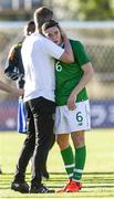 12 June 2019; Stephen Kenny head coach of Ireland and Conor Coventry of Ireland looks dejected after defeat during the 2019 Maurice Revello Toulon Tournament Semi-Final match between Brazil and Republic of Ireland at Stade De Lattre in Aubagne, France. Photo by Alexandre Dimou