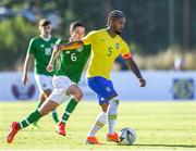 12 June 2019; Conor Coventry of Ireland in action against Douglas Luiz of Brazil during the 2019 Maurice Revello Toulon Tournament Semi-Final match between  Brazil and Republic of Ireland at Stade De Lattre in Aubagne, France. Photo by Alexandre Dimou