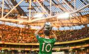 10 June 2019; Robbie Brady of Republic of Ireland  takes a throw in during the UEFA EURO2020 Qualifier Group D match between Republic of Ireland and Gibraltar at the Aviva Stadium, Lansdowne Road in Dublin. Photo by Harry Murphy/Sportsfile