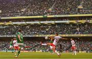10 June 2019; A general view as Robbie Brady crosses a ball during the UEFA EURO2020 Qualifier Group D match between Republic of Ireland and Gibraltar at the Aviva Stadium, Lansdowne Road in Dublin. Photo by Harry Murphy/Sportsfile