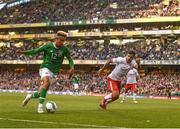 10 June 2019; A general view of Callum Robinson of Republic of Ireland during the UEFA EURO2020 Qualifier Group D match between Republic of Ireland and Gibraltar at the Aviva Stadium, Lansdowne Road in Dublin. Photo by Harry Murphy/Sportsfile