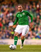 10 June 2019; Richard Keogh of Republic of Ireland during the UEFA EURO2020 Qualifier Group D match between Republic of Ireland and Gibraltar at the Aviva Stadium, Lansdowne Road in Dublin. Photo by Harry Murphy/Sportsfile