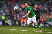 10 June 2019; Enda Stevens of Republic of Ireland during the UEFA EURO2020 Qualifier Group D match between Republic of Ireland and Gibraltar at the Aviva Stadium, Lansdowne Road in Dublin. Photo by Harry Murphy/Sportsfile