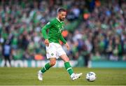 10 June 2019; Conor Hourihane of Republic of Ireland during the UEFA EURO2020 Qualifier Group D match between Republic of Ireland and Gibraltar at the Aviva Stadium, Lansdowne Road in Dublin. Photo by Harry Murphy/Sportsfile