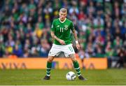 10 June 2019; James McClean of Republic of Ireland during the UEFA EURO2020 Qualifier Group D match between Republic of Ireland and Gibraltar at the Aviva Stadium, Lansdowne Road in Dublin. Photo by Harry Murphy/Sportsfile