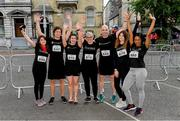 12 June 2019; Competitors, from left, Camilla Stefanelli, of Springboard Pr & Marketing, and Alan Nicholson, Niamh Nic Choitir, Melanie Corrigan Ronan Murphy Adina Dumitrescu and Blessing Usoro, all  of Smarttech247 - Getvisibility, at the Grant Thornton Corporate 5K Team Challenge, Cork City, The South Mall in Cork City. Photo by Piaras Ó Mídheach/Sportsfile