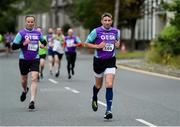 12 June 2019; Kieran Walsh, right, and Conor Shalloe, both of Grant Thornton during the Grant Thornton Corporate 5K Team Challenge, Cork City, The South Mall in Cork City. Photo by Piaras Ó Mídheach/Sportsfile