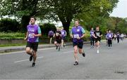 12 June 2019; Jeff McCarthy of Otter Products EMEA, left, and Eoin Gunn of AIB during the Grant Thornton Corporate 5K Team Challenge, Cork City, The South Mall in Cork City. Photo by Piaras Ó Mídheach/Sportsfile
