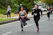 12 June 2019; Aoife Cahill of Grant Thornton, right, during the Grant Thornton Corporate 5K Team Challenge, Cork City, The South Mall in Cork City. Photo by Piaras Ó Mídheach/Sportsfile