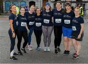 12 June 2019; Cork Chamber of Commerce runners, from left, Kirsty Foley, Kim Byrne, Margaret Kelly, Michelle O Sullivan, Annie Fitzgibbon, Aoife Dunne, Leigh Delaney, and Sarah Thatt-Foley, before the Grant Thornton Corporate 5K Team Challenge, Cork City, The South Mall in Cork City. Photo by Piaras Ó Mídheach/Sportsfile