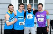 12 June 2019; Republic of Work runners, from left, Danny Finn, Frank Brennan, Islam Bahaa, and Gar Morley, before the Grant Thornton Corporate 5K Team Challenge, Cork City, The South Mall in Cork City. Photo by Piaras Ó Mídheach/Sportsfile