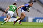 9 June 2019; John O'Loughlin of Laois in action against Bryan McMahon of Meath during the Leinster GAA Football Senior Championship Semi-Final match between Meath and Laois at Croke Park in Dublin. Photo by Piaras Ó Mídheach/Sportsfile