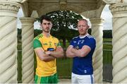 13 June 2019; Ryan McHugh, left, of Donegal and Cian Mackey of Cavan during an Ulster GAA Football Final Media Event at Lough Erne Resort in Fermanagh. Photo by Oliver McVeigh/Sportsfile