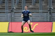 9 June 2019; Dublin substitute goalkeeper Michael Shiel warms-up before the Leinster GAA Football Senior Championship Semi-Final match between Dublin and Kildare at Croke Park in Dublin. Photo by Piaras Ó Mídheach/Sportsfile