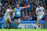 9 June 2019; Con O'Callaghan of Dublin in action against David Slattery, left, and Mick O'Grady of Kildare during the Leinster GAA Football Senior Championship Semi-Final match between Dublin and Kildare at Croke Park in Dublin. Photo by Piaras Ó Mídheach/Sportsfile