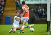 9 June 2019; Aidan Nugent of Armagh has his shot saved by Raymond Galligan of Cavan during the Ulster GAA Football Senior Championship Semi-Final Replay match between Cavan and Armagh at St Tiarnach's Park in Clones, Monaghan. Photo by Oliver McVeigh/Sportsfile