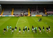 14 June 2019; Shamrock Rovers players warm-up prior to the SSE Airtricity League Premier Division match between Bohemians and Shamrock Rovers at Dalymount Park in Dublin. Photo by Seb Daly/Sportsfile