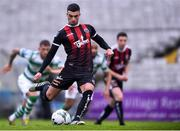 14 June 2019; Daniel Mandroiu of Bohemians shoots to score his side's first goal, from a penalty, during the SSE Airtricity League Premier Division match between Bohemians and Shamrock Rovers at Dalymount Park in Dublin. Photo by Ben McShane/Sportsfile