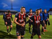 14 June 2019; Paddy Kirk, left, and Keith Ward of Bohemians following their side's victory after the SSE Airtricity League Premier Division match between Bohemians and Shamrock Rovers at Dalymount Park in Dublin. Photo by Seb Daly/Sportsfile