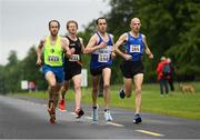 15 June 2019; Competitors, from left Pierce Geoghegan of Liffey Valley A.C., Co. Dublin, Sean Doran of Clonliffe Harriers A.C., Co. Dublin, Gerard Gallagher of Finn Valley A.C., Co. Donegal and Barry Sheil of Longford A.C., Co. Longford, during the Irish Runner 5 Mile in conjunction with the AAI National 5 Mile Championships at the Phoenix Park in Dublin. Photo by Harry Murphy/Sportsfile