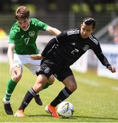 15 June 2019; Alan Mozo of Mexico in action against Stephen Mallon of Republic of Ireland during the 2019 Maurice Revello Toulon Tournament Third Place Play-off between Mexico and Republic of Ireland at the Stade d'Honneur Marcel Roustan in Salon-de-Provence, France. Photo by Alexandre Dimou/Sportsfile