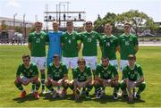 15 June 2019; Republic of Ireland team, back row, from left, Liam Scales, Caoimhin Kelleher, Conor Masterson, Aaron Drinan, Jamie Lennon and Jack Taylor. Front row, from left, Lee O'Connor, Jason Knight, Tyreke Wilson, Canice Carroll and Stephen Mallon prior to the 2019 Maurice Revello Toulon Tournament Third Place Play-off between Mexico and Republic of Ireland at the Stade d'Honneur Marcel Roustan in Salon-de-Provence, France. Photo by Alexandre Dimou/Sportsfile