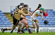 15 June 2019; Kevin Connolly of Offaly in action against Bryan Murphy, Tomás O'Connor and Jack Goulding of Kerry during the Joe McDonagh Cup Round 5 match between Kerry and Offaly at Austin Stack Park, Tralee in Kerry. Photo by Brendan Moran/Sportsfile