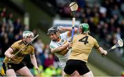 15 June 2019; Shane Dooley of Offaly is tackled by Seán Weir of Kerry during the Joe McDonagh Cup Round 5 match between Kerry and Offaly at Austin Stack Park, Tralee in Kerry. Photo by Brendan Moran/Sportsfile