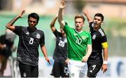 15 June 2019; Connor Ronan of Republic of Ireland and Pablo Cesar Lopez and Jesus Alberto Angulo of Mexico react during the 2019 Maurice Revello Toulon Tournament third place play-off match between Mexico and Republic of Ireland at Stade d'Honneur Marcel Roustan in Salon-de-Provence, France. Photo by Alexandre Dimou/Sportsfile