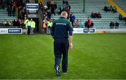 15 June 2019; Offaly manager Joachim Kelly leaves the pitch after the Joe McDonagh Cup Round 5 match between Kerry and Offaly at Austin Stack Park, Tralee in Kerry. Photo by Brendan Moran/Sportsfile