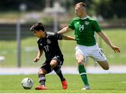 15 June 2019; Jamie Lennon of Republic of Ireland in action against Fernando Beltran of Mexico during the 2019 Maurice Revello Toulon Tournament Third Place Play-off match between Mexico and Republic of Ireland at Stade d'Honneur Marcel Roustan in Salon-de-Provence, France. Photo by Alexandre Dimou/Sportsfile