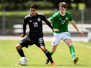 15 June 2019; Stephen Mallon of Republic of Ireland in action against Alan Medina of Mexico during the 2019 Maurice Revello Toulon Tournament Third Place Play-off match between Mexico and Republic of Ireland at Stade d'Honneur Marcel Roustan in Salon-de-Provence, France. Photo by Alexandre Dimou/Sportsfile