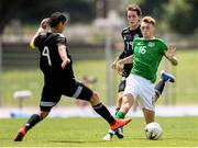 15 June 2019; Jack Taylor of Republic of Ireland in action against Jesus Alberto Angulo of Mexico during the 2019 Maurice Revello Toulon Tournament Third Place Play-off match between Mexico and Republic of Ireland at Stade d'Honneur Marcel Roustan in Salon-de-Provence, France. Photo by Alexandre Dimou/Sportsfile