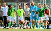 15 June 2019; Dejected Republic of Ireland players following the 2019 Maurice Revello Toulon Tournament Third Place Play-off match between Mexico and Republic of Ireland at Stade d'Honneur Marcel Roustan in Salon-de-Provence, France. Photo by Alexandre Dimou/Sportsfile