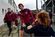 15 June 2019; Jason Flynn of Galway arrives ahead of the Leinster GAA Hurling Senior Championship Round 5 match between Dublin and Galway at Parnell Park in Dublin. Photo by Ramsey Cardy/Sportsfile