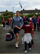 15 June 2019; Joe Canning of Galway arrives ahead of the Leinster GAA Hurling Senior Championship Round 5 match between Dublin and Galway at Parnell Park in Dublin. Photo by Ramsey Cardy/Sportsfile