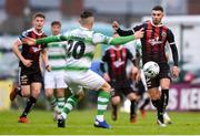 14 June 2019; Daniel Mandroiu of Bohemians and Trevor Clarke of Shamrock Rovers during the SSE Airtricity League Premier Division match between Bohemians and Shamrock Rovers at Dalymount Park in Dublin. Photo by Ben McShane/Sportsfile