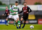 14 June 2019; Trevor Clarke of Shamrock Rovers and Luke Wade-Slater of Bohemians during the SSE Airtricity League Premier Division match between Bohemians and Shamrock Rovers at Dalymount Park in Dublin. Photo by Ben McShane/Sportsfile