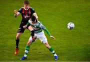14 June 2019; Ryan Swan of Bohemians in action against Trevor Clarke of Shamrock Rovers during the SSE Airtricity League Premier Division match between Bohemians and Shamrock Rovers at Dalymount Park in Dublin. Photo by Ben McShane/Sportsfile