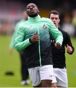 14 June 2019; Daniel Carr of Shamrock Rovers warms-up prior to the SSE Airtricity League Premier Division match between Bohemians and Shamrock Rovers at Dalymount Park in Dublin. Photo by Ben McShane/Sportsfile