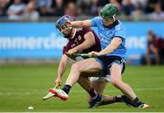 15 June 2019; Johnny Coen of Galway in action against Tom Connolly of Dublin during the Leinster GAA Hurling Senior Championship Round 5 match between Dublin and Galway at Parnell Park in Dublin. Photo by Ramsey Cardy/Sportsfile