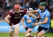15 June 2019; Jonathan Glynn of Galway in action against Eoghan O'Donnell of Dublin during the Leinster GAA Hurling Senior Championship Round 5 match between Dublin and Galway at Parnell Park in Dublin. Photo by Ramsey Cardy/Sportsfile